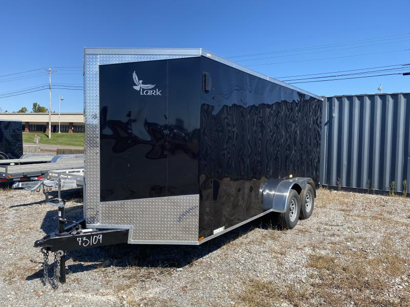 2021 Lark (7 x 16) 7000#GVWR Ramp Door VT716TA Enclosed Cargo Trailer