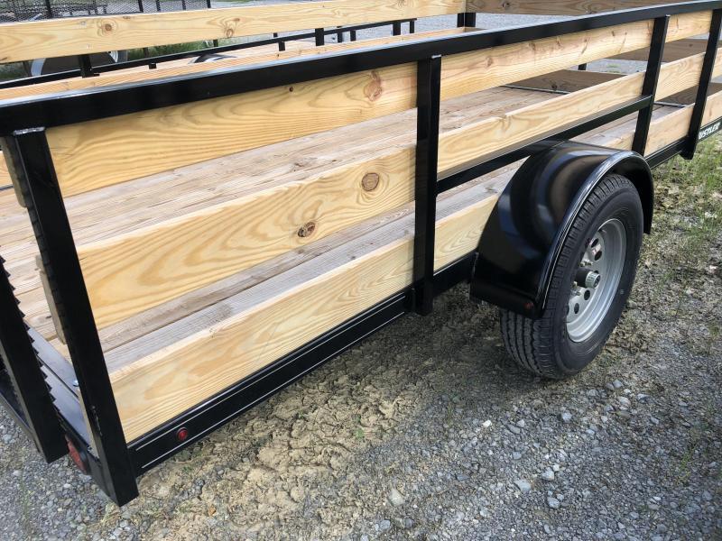 2020 Hustler U1272-15 Utility Trailer 6 x 12 (2' Wood Sides)