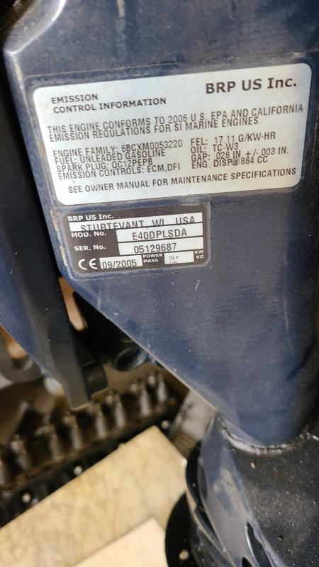 2006 Evinrude E40dplsda Outboard Motors