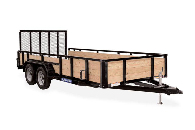 2021 Sure-Trac 7 x 16 Tube Top Three Board Trailer  10K