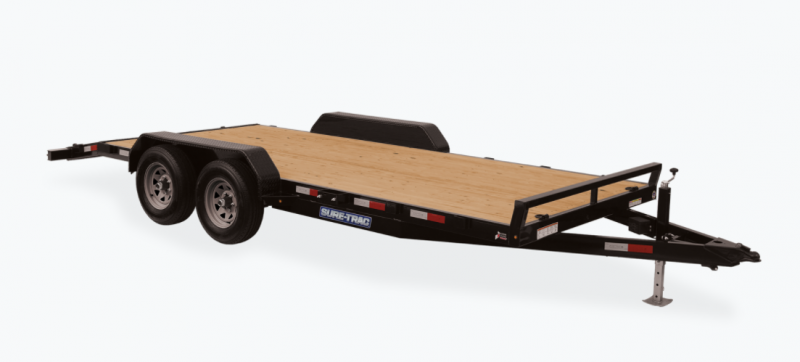 2021 Sure-Trac 7 x 20 (18+2) C-Channel Car Hauler Trail
