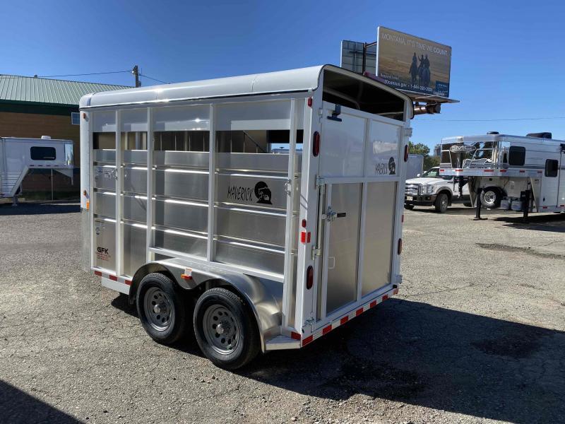 2021 Maverick 13' 2 Horse Slant Load Bumper Pull with Walk in Dressing Room
