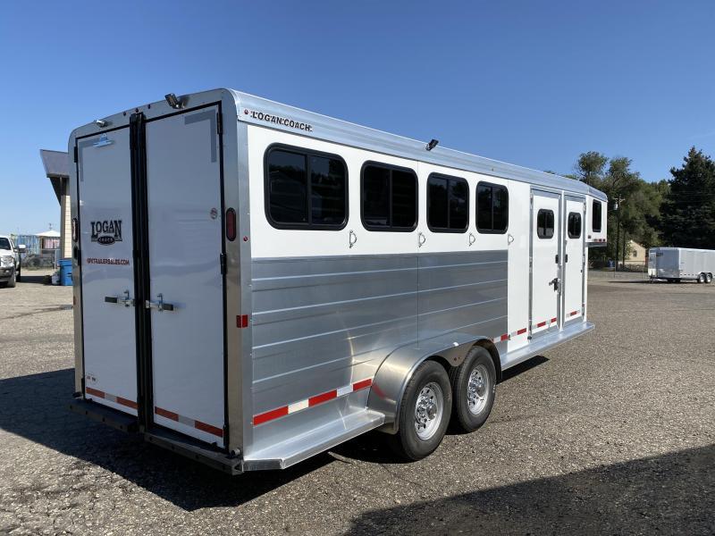 2020 Logan Bulls Eye 4 Horse Gooseneck w/ Closet Tack Package