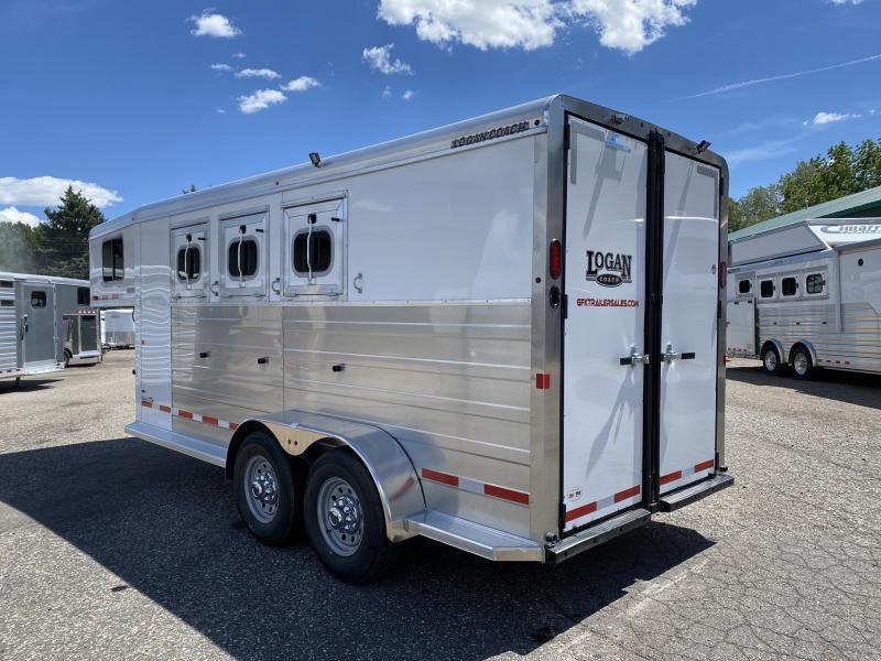 2021 Logan Bullseye 3 Horse Gooseneck Trailer
