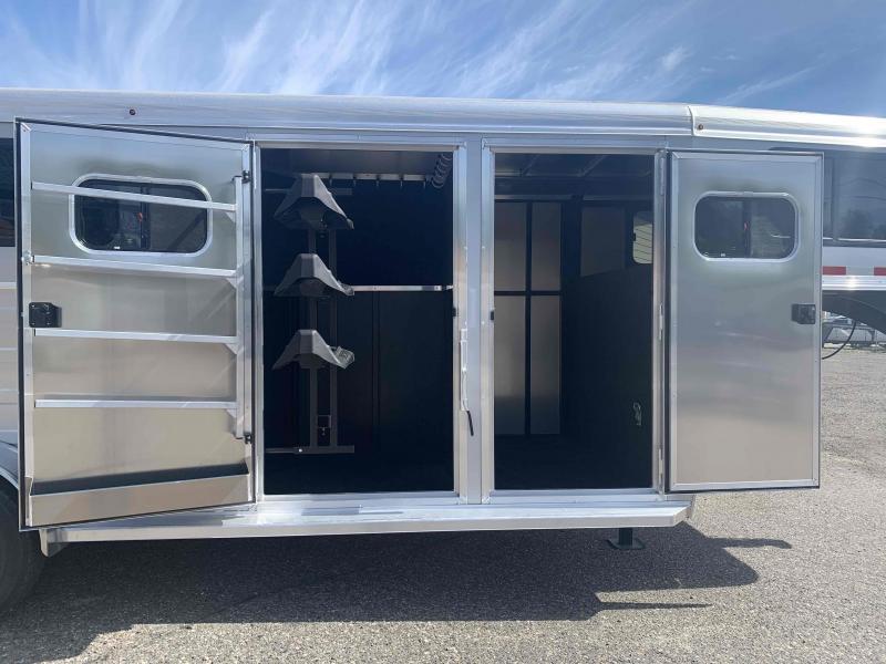 2022 Logan Bullseye 3 Horse Gooseneck Trailer with Closet Tack