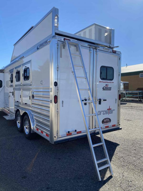 "2021 Cimarron 3 Horse 15'4"" Living Quarter Trailer"