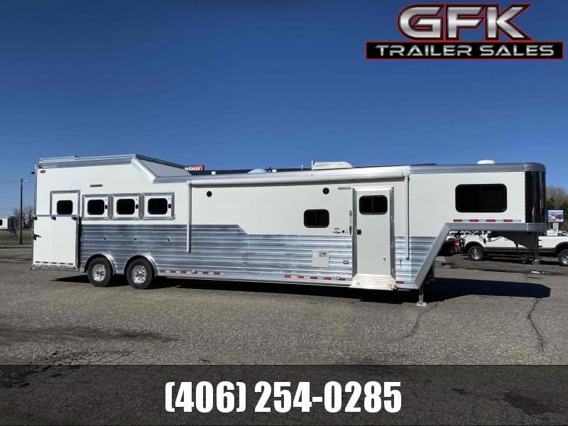 "2021 Cimarron 4 Horse Side Load with 14'8"" Living Quarter Trailer"