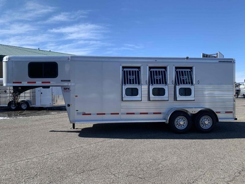 2021 Logan Bullseye 3 Horse Gooseneck Trailer with Closet Tack