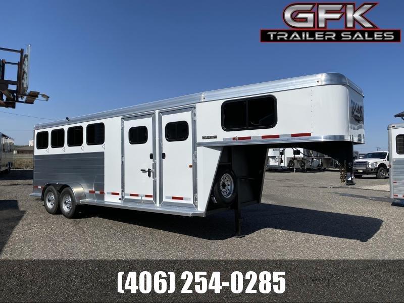 2021 Logan Bulls Eye 4 Horse Gooseneck w/ Closet Tack Package