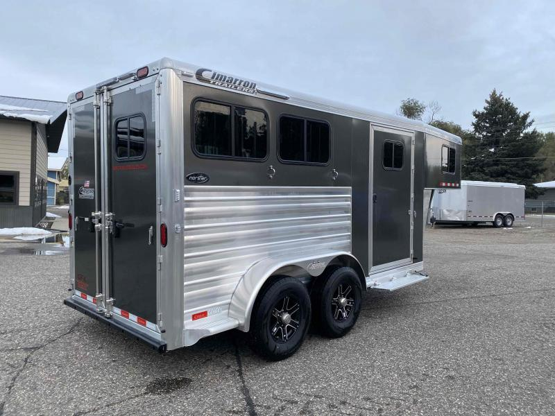 2021 Cimarron Norstar 2 Horse Gooseneck Trailer