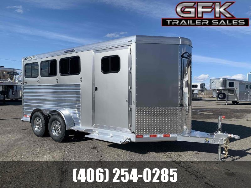 2021 Cimarron  3 Horse Bumper Pull Trailer