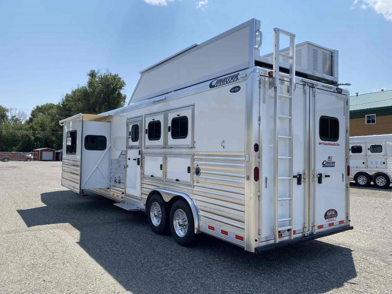 "2021 Cimarron 3 Horse 15'4"" Living Quarter Trailer"