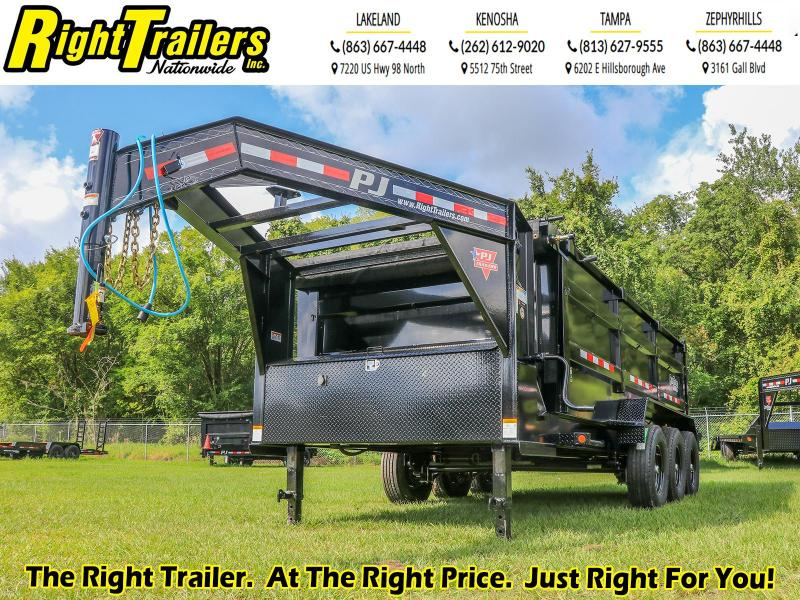 7X16X4 PJ Trailers HD Low-Pro Dump (DE) Dump Trailer