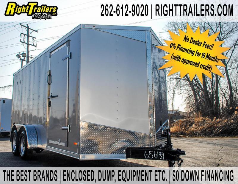 7x16 RC RDLX Enclosed Cargo Trailer