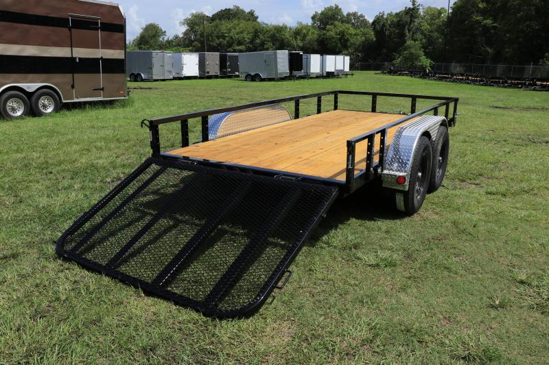 6.5X14 PJ Trailers 77 in. Tandem Axle Channel Utility (UK) Utility Trailer