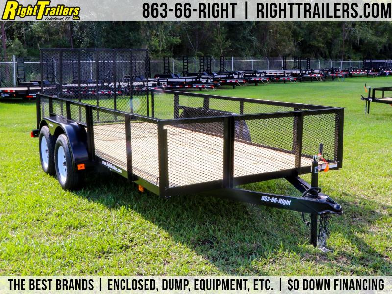 6x14 Red Hot Trailers   Utility Trailer