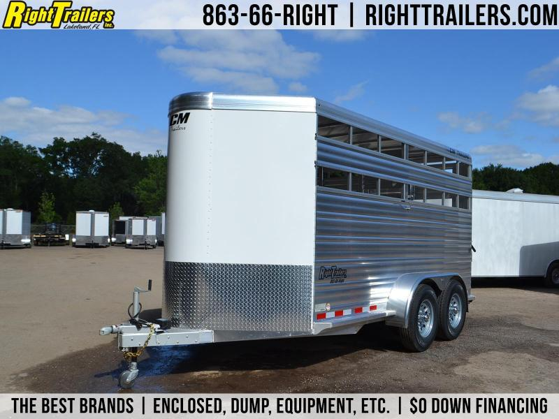 "6'8""x16' CM Horse Trailer | All Aluminum Horse Trailer"