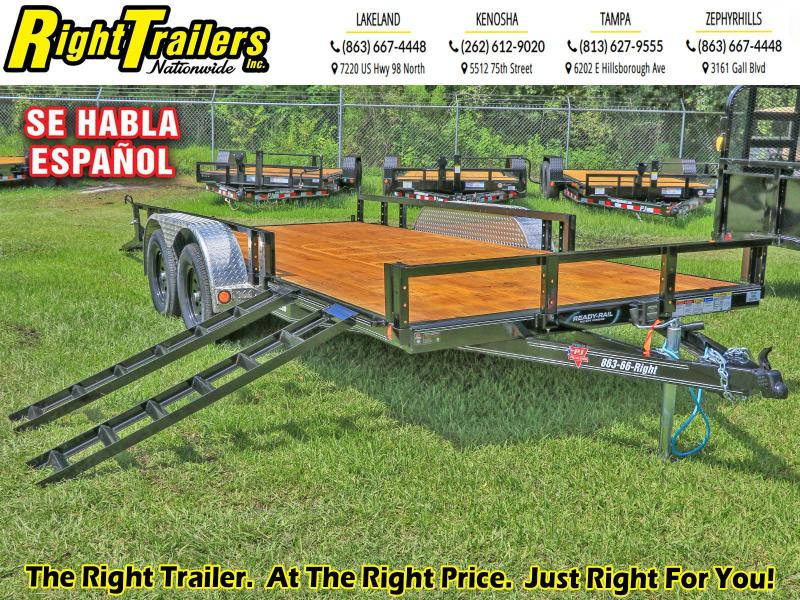 7X16 ATV PJ Trailers 83 in. Tandem Axle Channel Utility (UL) Utility Trailer
