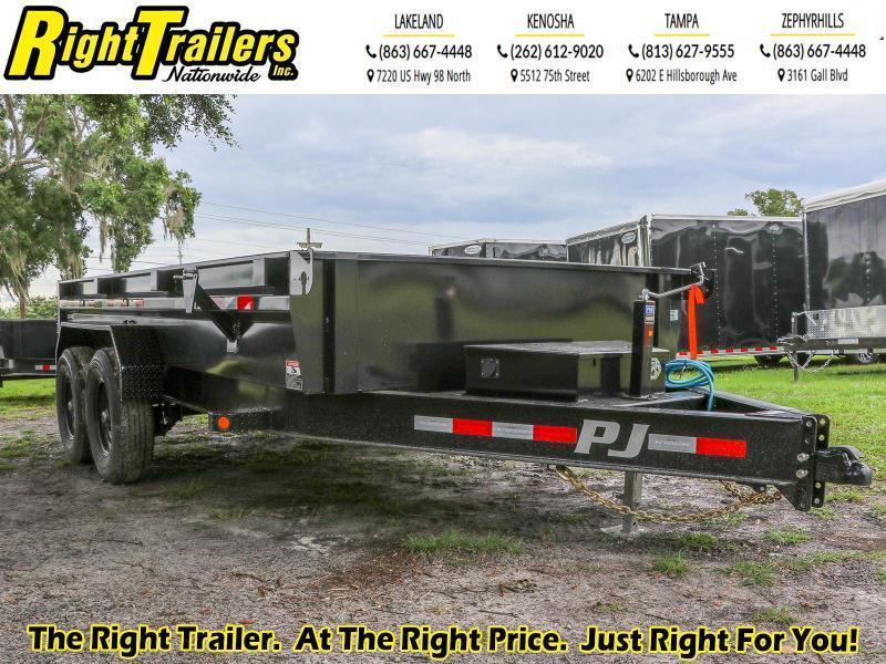 7X14 14K GVWR PJ Dump Trailer