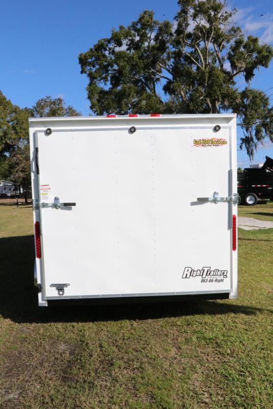 7x16 Red Hot Trailers | Enclosed Trailer