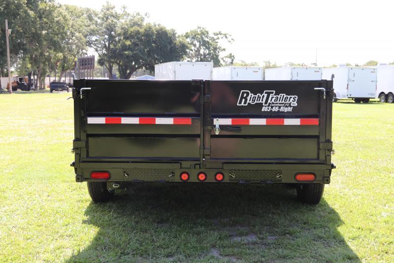 7x16 PJ | Low Pro 14K GVWR Dump Trailer