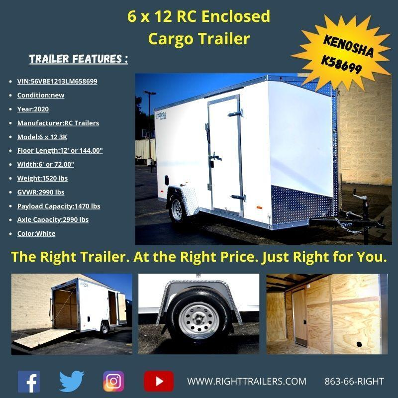 6X12 RC ENCLOSED CARGO TRAILER