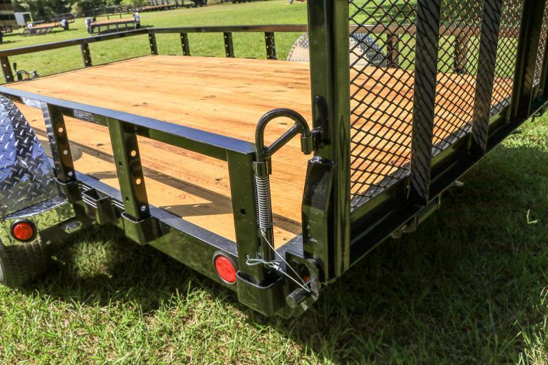 PJ Trailers 83 in. Single Axle Channel Utility (U8) Utility Trailer