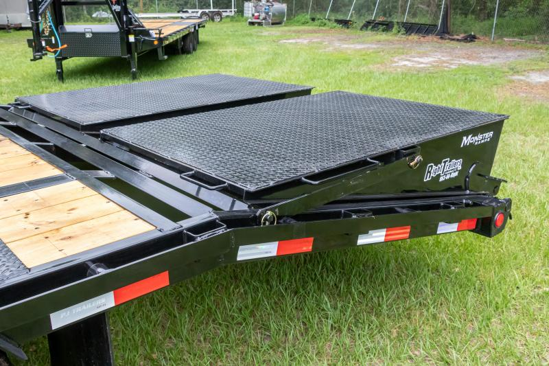 8.5X25 (20+5) PJ Trailers Low-Pro Flatdeck with Duals (LD) Flatbed Trailer