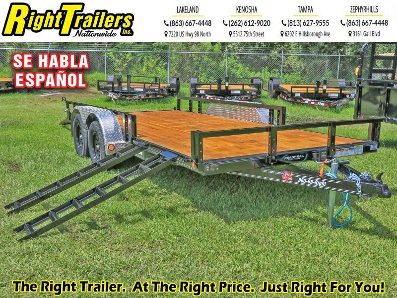 7X16 ATV PJ Trailers 83 in. Tandem Axle Channel Utility (UL) Utility Trailer
