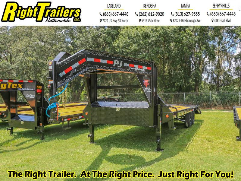 8.5X25 PJ Trailers Low-Pro Flatdeck with Singles (LS) Flatbed Trailer