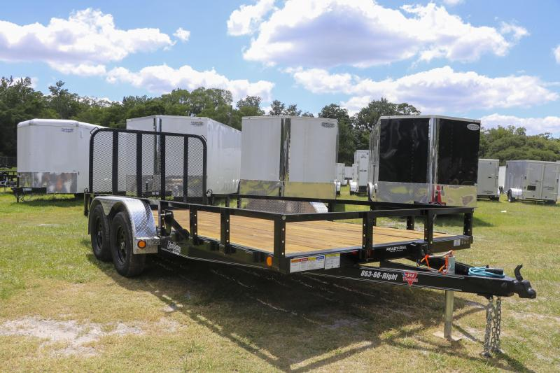 7X16 PJ Trailers 83 in. Tandem Axle Channel Utility (UL) Utility Trailer