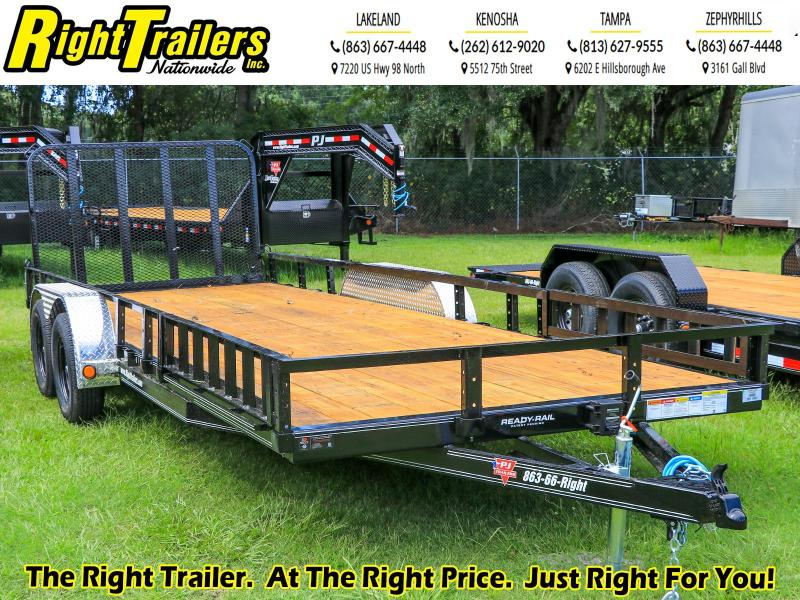 7X20 PJ Trailers 83 in. Tandem Axle Channel Utility (UL) Utility Trailer