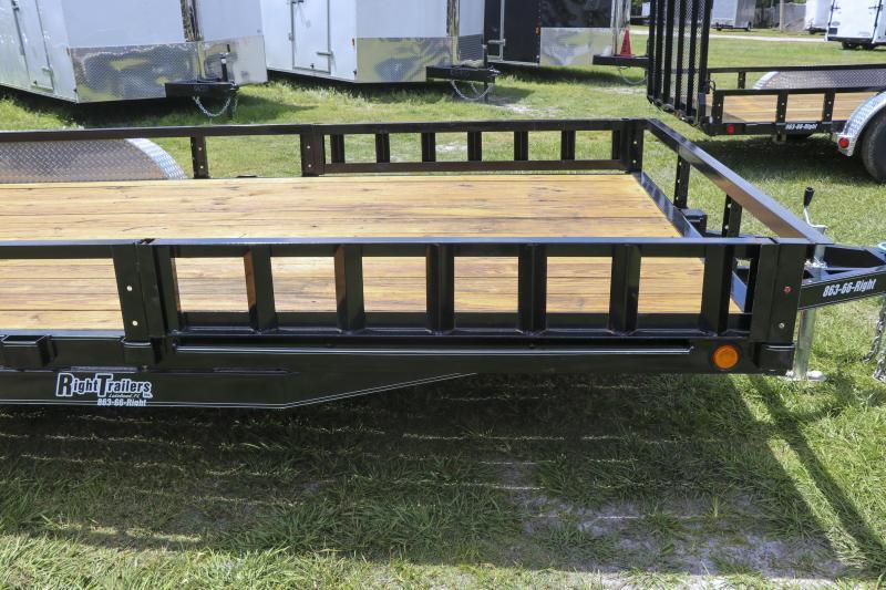 7x18 PJ Trailers 83 in. Tandem Axle Channel Utility (UL) Utility Trailer