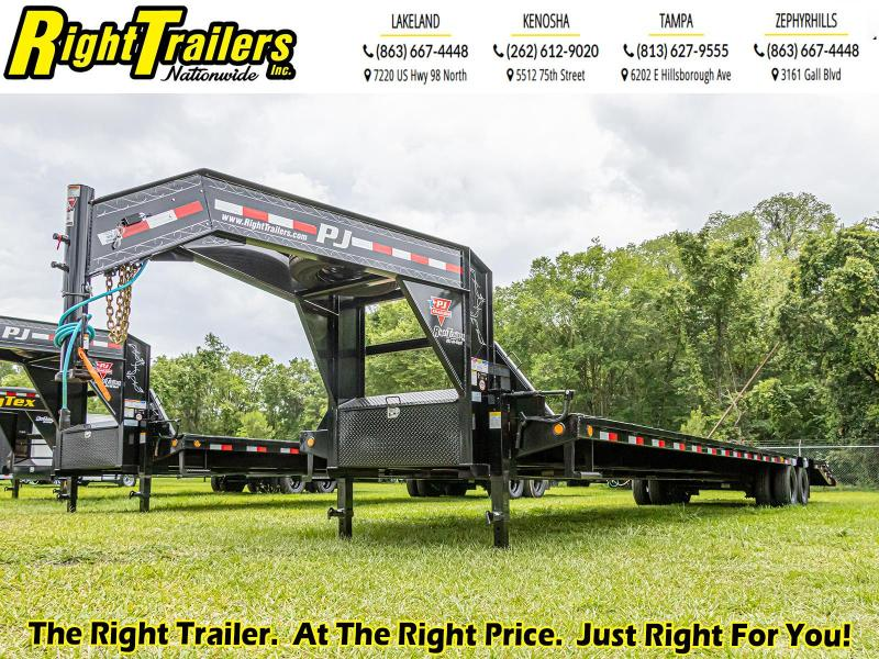 8.5X40 (35+5) PJ Trailers LD Flatbed Trailer
