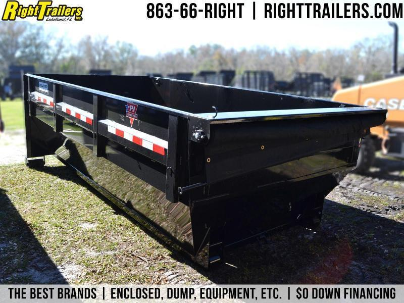 7x14x4 PJ Trailers   Rollster Bins Dump Trailer