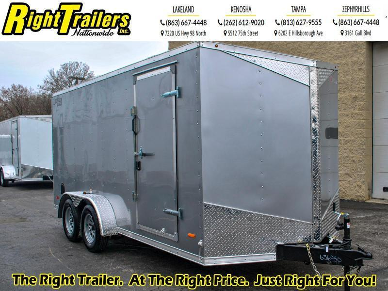 7 x 16 RC Trailers I 7K Tandem Axle Enclosed Cargo Trailer