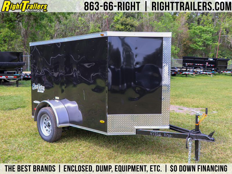 5X8 Red Hot   Enclosed Cargo Trailer