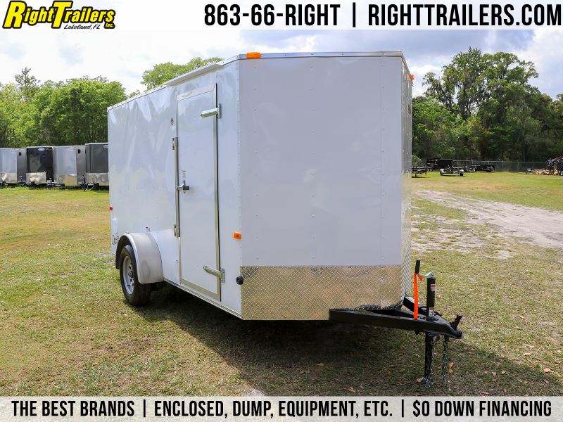 6X12 Red Hot | Enclosed Cargo Trailer