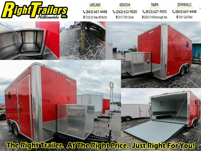 *CUSTOM* 8.5X12 Red Hot Enclosed Cargo Trailer