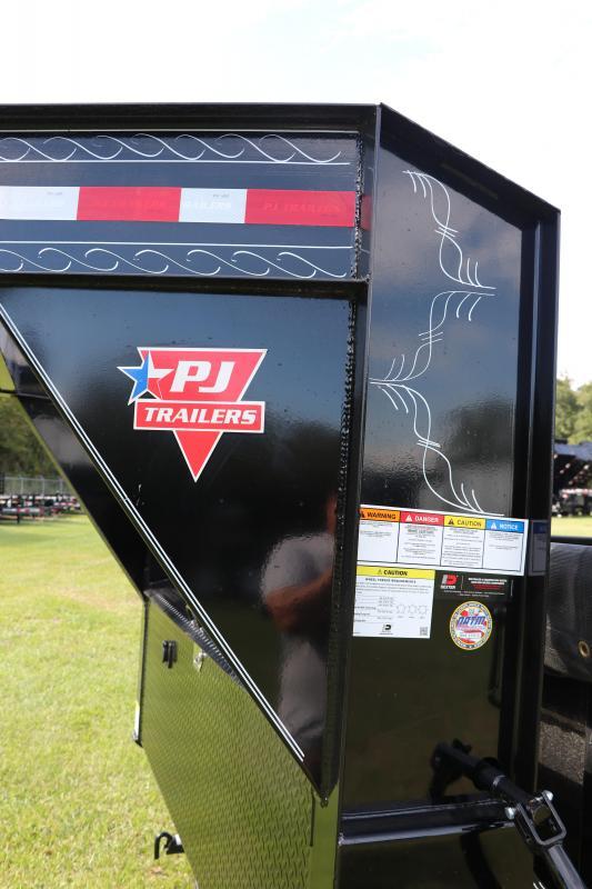 7x16x2 PJ Trailers | Gooseneck Dump Trailer With 10Ga. Steel Bed