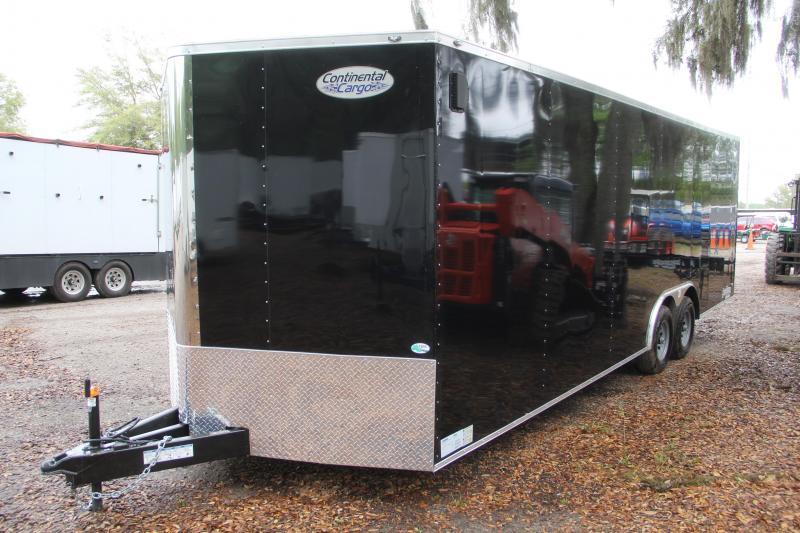 USED-8.5x24 Continental Cargo   Enclosed Car Trailer