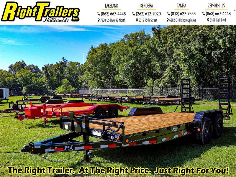 7x20 PJ Trailers 6 in. Channel Equipment (CC) Equipment Trailer