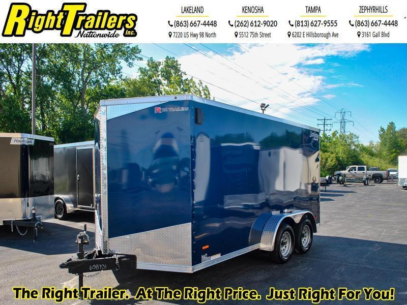 7 x 14  RC Trailers 7K Tandem Axle Enclosed Cargo Trailer