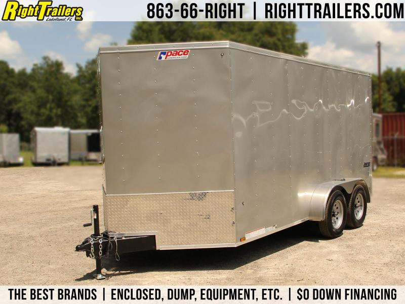 7x14 Pace American   Enclosed Trailer [Silver]
