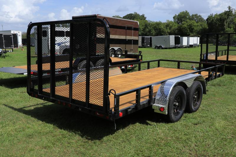 6X16 PJ Trailers 83 in. Tandem Axle Channel Utility (UL) Utility Trailer