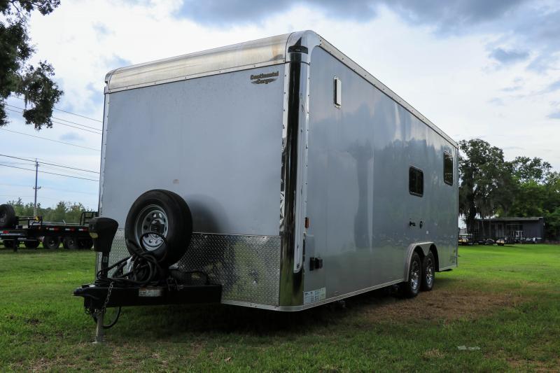 8.5X22 Continental Cargo I Living Quarters Trailer