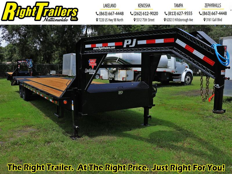 8X30 PJ Trailers Low-Pro Flatdeck with Singles (LS) Flatbed Trailer