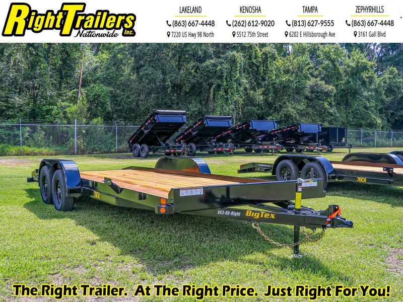 7x20 Big Tex Trailers | Open Car Hauler Trailer