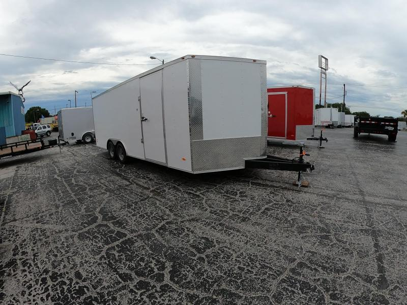 8.5X20 Red Hot Enclosed Cargo Trailer