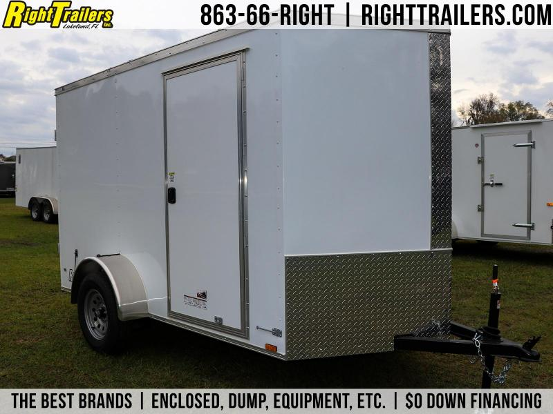6x10 Red Hot Enclosed Cargo Trailer